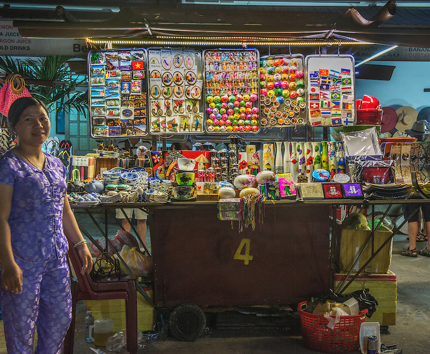 A stall in the night market of Hoi An.