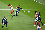 22.06.2021 Croatia v Scotland: Ivan Perisic shoots past Stephen O'Donnell