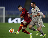 Football Soccer: Europa League -Round of 16 1nd leg AS Roma vs FC Shakhtar Donetsk, Olympic Stadium. Rome, Italy, March 11, 2021.<br /> Roma's Carles Perez (L) in action with Shakhtar Donetsk's Ismaily (R) during the Europa League football soccer match between Roma and  Shakhtar Donetsk at Olympic Stadium in Rome, on March 11, 2021.<br /> UPDATE IMAGES PRESS/Isabella Bonotto