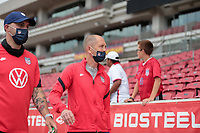 SANDY, UT - JUNE 10: Gregg Berhalter head coach of the United States before a game between Costa Rica and USMNT at Rio Tinto Stadium on June 10, 2021 in Sandy, Utah.