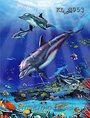 Interlitho, Lorenzo, FANTASY, paintings, dolphins, wreck, KL, KL3953,#fantasy# illustrations, pinturas