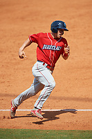 Lakewood BlueClaws center fielder Kevin Markham (30) runs the bases during a game against the Greensboro Grasshoppers on June 10, 2018 at First National Bank Field in Greensboro, North Carolina.  Lakewood defeated Greensboro 2-0.  (Mike Janes/Four Seam Images)