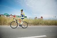 Alberto Contador (ESP/Tinkoff-Saxo) to the start<br /> <br /> 2014 Tour de France<br /> stage 4: Le Touquet-Paris-Plage/Lille Métropole (163km)
