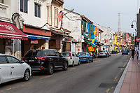 Hang Jebat Street Scene, Melaka, Malaysia.