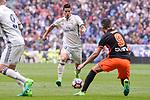 Real Madrid's James Rodriguez and Valencia CF's Munir El Haddadi during La Liga match between Real Madrid and Valencia CF at Santiago Bernabeu Stadium in Madrid, April 29, 2017. Spain.<br /> (ALTERPHOTOS/BorjaB.Hojas)