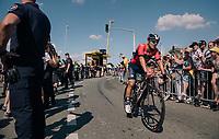 Sonny Colbrelli (ITA/Bahrain Merida) rolling out post-finish<br /> <br /> Stage 2: Mouilleron-Saint-Germain > La Roche-sur-Yon (183km)<br /> <br /> Le Grand Départ 2018<br /> 105th Tour de France 2018<br /> ©kramon