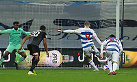 EDIT: third goal scored for Queens Park Rangers by Lyndon Dykes of Queens Park Rangers from the penalty spot during Queens Park Rangers vs Rotherham United, Sky Bet EFL Championship Football at The Kiyan Prince Foundation Stadium on 24th November 2020