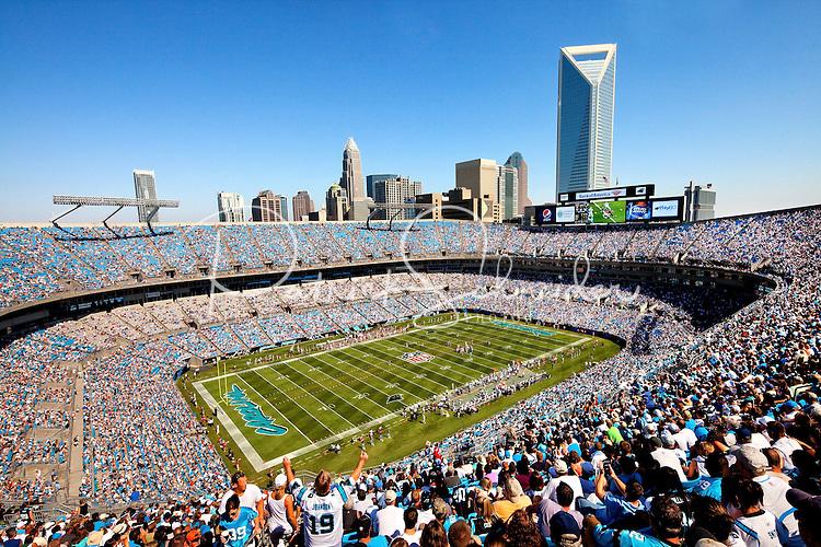 The Carolina Panthers at Bank of America Stadium in Charlotte, North Carolina.