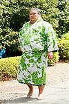 Chiyomaru, <br /> APRIL 17, 2017 - Sumo : Yasukuni Shrine Honozumo is a ceremonial annual sumo tournament held in the precincts of the Yasukuni Shrine in Tokyo, Japan. (Photo by Yohei Osada/AFLO SPORT)