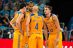 Herbalife Gran Canaria's player Kyle Kuric, Eulis Baez, Albert Oliver and Xavi Rabaseda during the final of Supercopa of Liga Endesa Madrid. September 24, Spain. 2016. (ALTERPHOTOS/BorjaB.Hojas)