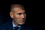 Manager Zinedine Zidane of Real Madrid looks on prior to the La Liga 2017-18 match between Real Madrid and Villarreal CF at Santiago Bernabeu Stadium on January 13 2018 in Madrid, Spain. Photo by Diego Gonzalez / Power Sport Images