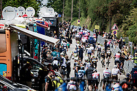 riders getting to their team buses post-race<br /> <br /> Stage 3 from Lorient to Pontivy (183km)<br /> 108th Tour de France 2021 (2.UWT)<br /> <br /> ©kramon