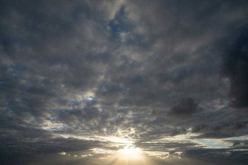 Clouds over Hawaii, the big island