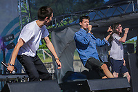 LaF performs at the Festival d'ete de Quebec (Quebec Summer Festival) on July 12, 2018.