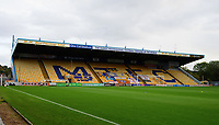 A general view of One Call Stadium, commonly known as Field Mill, home of Mansfield Town<br /> <br /> Photographer Andrew Vaughan/CameraSport<br /> <br /> EFL Trophy Northern Section Group E - Mansfield Town v Lincoln City - Tuesday 6th October 2020 - Field Mill - Mansfield  <br />  <br /> World Copyright © 2020 CameraSport. All rights reserved. 43 Linden Ave. Countesthorpe. Leicester. England. LE8 5PG - Tel: +44 (0) 116 277 4147 - admin@camerasport.com - www.camerasport.com