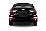 Straight rear view of 2017 Hyundai Elantra SE 4 Door Sedan Rear View  stock images