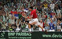 Tenis, Davis Cup, .Serbia Vs. Australia.Novak Djokovic Vs. Chris Guccione.Belgrade, 23.09.2007..foto; Srdjan Stevnovic