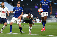 Toby Alderweireld of Tottenham Hotspur heads clear during Tottenham Hotspur vs Everton, Premier League Football at Tottenham Hotspur Stadium on 6th July 2020