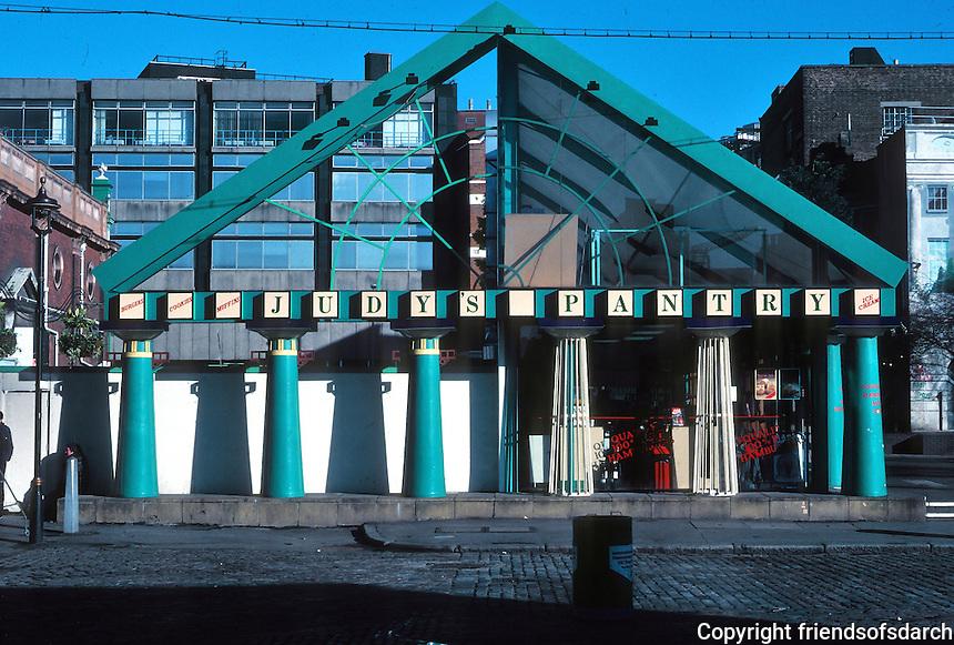 Terry Farrell: Clifton Nurseries Garden Shop, Covent Garden. A temporary building from 1980-1990!  Photo '90.