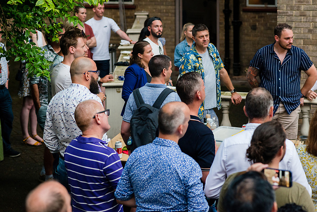 Event professionals from agencies, the corporate sector and a variety of technology companies attending an open-air BBQ at Tresham House Gardens, Red Lion Square in Holborn, London, Tuesday, 20th of July 2021. Photo: AMMP/Maciek Musialek