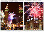Night Photography talk, annotated photo, fireworks, framed photo, night, night photography, downtown Denver, 16th Street Mall, Coors Field,