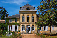 The main chateau building, renovated by Jorgensen Chateau de Haux Premieres Cotes de Bordeaux Entre-deux-Mers Bordeaux Gironde Aquitaine France