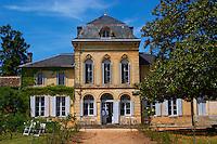 The main chateau building, renovated by Jorgensen Chateau de Haux Premieres Cotes de Bordeaux Entre-deux-Mers Bordeaux Gironde Aquitaine France