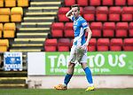 St Johnstone v Kilmarnock…15.10.16.. McDiarmid Park   SPFL<br />Steven MacLean reacts to his disallowed goal<br />Picture by Graeme Hart.<br />Copyright Perthshire Picture Agency<br />Tel: 01738 623350  Mobile: 07990 594431