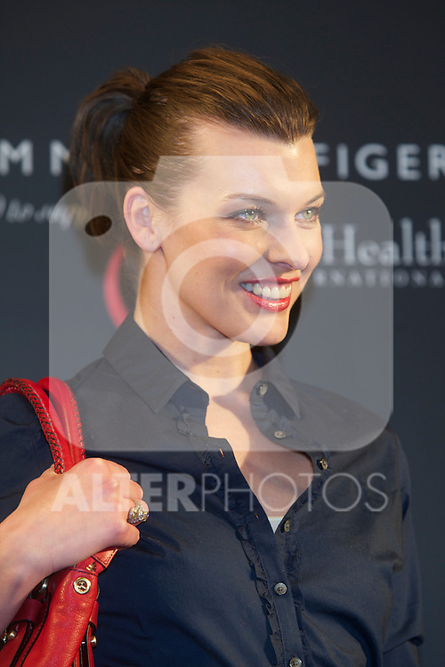 Milla Jovovich presents the the new Tommy Hilfiger Bag to Benefit Breast Health International in the English Court of Madrid..Billy Chappel / ALFAQUI