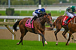 TORONT,CANADA-SEP 15: Abscond #8,ridden by Irad Ortiz jr,wins the Natalma Stakes at Woodbine Race Track on September 15,2019 in Toronto,Ontario,Canada. Kaz Ishida/Eclipse Sportswire/CSM