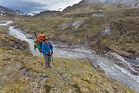 Near the headwaters of the Ivishak river. Arctic National Wildlife Refuge, Brooks Range, Arctic Alaska.