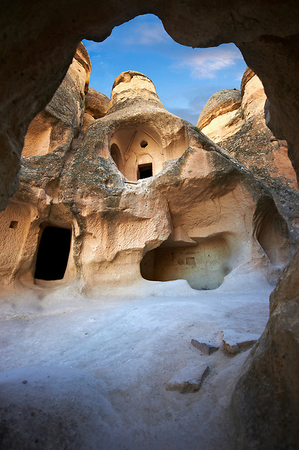 The fairy chimney rock early Christian  church of Pasabag Valley,  monks valley, near Goreme, Cappadocia, Nevsehir, Turkey