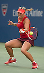 Angelique Kerber (GER) splits the first two sets with Victoria Azarenka (BLR) 5-7, 6-2 at the US Open in Flushing, NY on September 5, 2015.