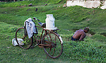 Sri Lanka selection<br /> Man with milk churn on his bicycle in Galle<br /> <br /> Picture by Gavin Rodgers/ Pixel8000<br />  07917221968