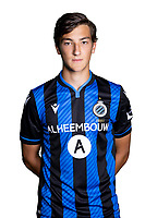 20th August 2020, Brugge, Belgium;  Thomas Van Den Keybus pictured during the team photo shoot of Club Brugge NXT prior the Proximus league football season 2020 - 2021 at the Belfius Base camp