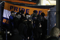 Luton Town fans look on after the game during the The Checkatrade Trophy Semi Final match between Luton Town and Oxford United at Kenilworth Road, Luton, England on 1 March 2017. Photo by Stewart  Wright  / PRiME Media Images.
