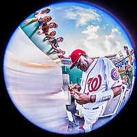 15 August 2017: Washington Nationals Manager Dusty Baker signs autographs prior to a game against the Los Angeles Angels at Nationals Park in Washington, DC. The Nationals defeated the Angels 3-1 in the first game of their 2-game series. Mandatory Credit: Ed Wolfstein Photo *** RAW (NEF) Image File Available ***