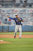 Andy Ibanez (7) of the Nashville Sounds during the game against the Reno Aces at Greater Nevada Field on June 5, 2019 in Reno, Nevada. The Aces defeated the Sounds 3-2. (Stephen Smith/Four Seam Images)