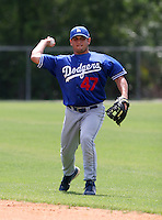 Los Angeles Dodgers minor leaguer Jesus Soto during Spring Training at Dodgertown on March 23, 2007 in Vero Beach, Florida.  (Mike Janes/Four Seam Images)