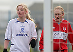 Tranmere Rovers Ladies 5 Middlesbrough Ladies 0, 22/01/2006. FA Women's premier League North. Tranmere Rovers Ladies (white) take on Middlesbrough Ladies in a FA Women's premier League (North) match at Poulton Victoria FC's ground in Wallasey. Rovers won 5-0.<br />  Photo by Colin McPherson.