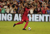 Orlando, FL - Friday Oct. 06, 2017: Jozy Altidore scores his second goal during a 2018 FIFA World Cup Qualifier between the men's national teams of the United States (USA) and Panama (PAN) at Orlando City Stadium.