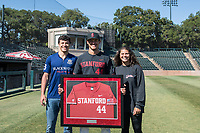 STANFORD, CA - MAY 29: Christian Robinson and family after a game between Oregon State University and Stanford Baseball at Sunken Diamond on May 29, 2021 in Stanford, California.