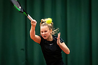 Wateringen, The Netherlands, December 15,  2019, De Rhijenhof , NOJK juniors doubles , Final 12 years years, Britt du Pree (NED)<br /> Photo: www.tennisimages.com/Henk Koster