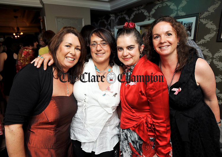 Brenda Bugler, Natalie Arkins, Anna Stack and Grainne Mc Auliffe  attending a cocktails and canapes post-premiere party at Rogues Wine Bar, following a charity premiere of Sex And The City in aid of Action Breast Cancer. Photograph by John Kelly...