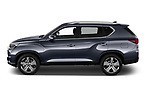 Car Driver side profile view of a 2021 Ssangyong Rexton Sapphire 5 Door SUV Side View