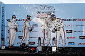 #6 Acura Team Penske Acura DPi, DPi: Juan Pablo Montoya, Dane Cameron, #7 Acura Team Penske Acura DPi, DPi: Helio Castroneves, Ricky Taylor, champagne