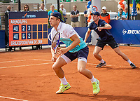 Amstelveen, Netherlands, 1 August 2020, NTC, National Tennis Center, National Tennis Championships, Men's Doubles final:  Tallon Griekspoor (NED) (L) and Botic van de Zandschulp (NED)<br /> Photo: Henk Koster/tennisimages.com