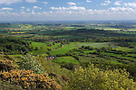 Great Britain, England, North Yorkshire, near Thirsk: View from Sutton Bank in the North York Moors National Park, looking over the Vale of Mowbray