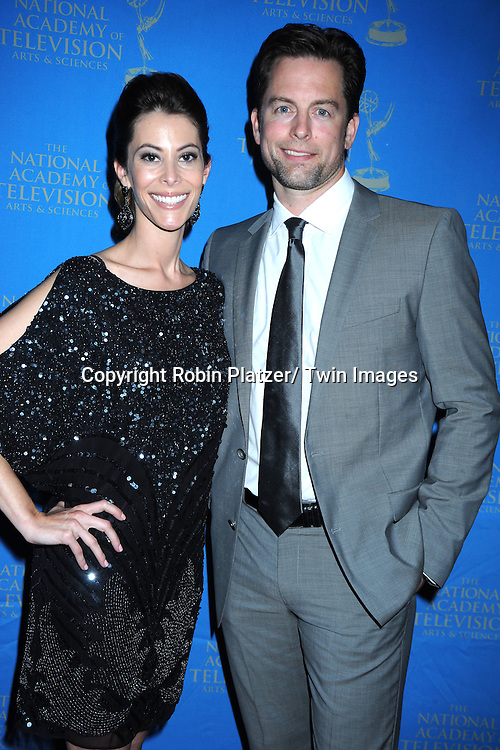 Michael Muhney and wife Jaime Muhney attending The 38th Annual Creative Arts Emmy Awards on June 17, 2011 at The Westin Bonaventure Hotel in Los Angeles in California.
