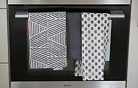 Pictured: Towels on the oven door Wednesday 26 April 2017<br /> Re: Waterstone Homes' most recent property development Howell's Reach, is in Derwen Fawr, Swansea and is made up of 13 luxury family homes, and also includes five affordable homes.
